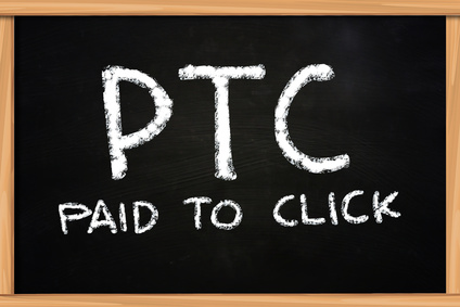 PTC Paid to Click illustration of chalk writing on blackboard